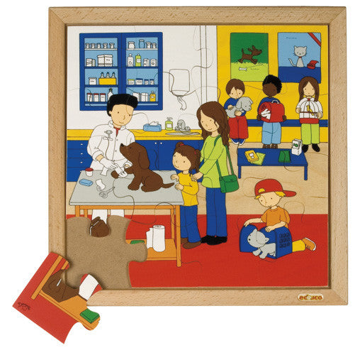 Vet Puzzle 16pc (34cm x 34cm) Wood Framed