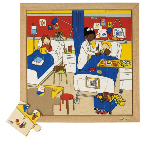 Hospital Puzzle 16pc (34cm x 34cm) Wood Framed