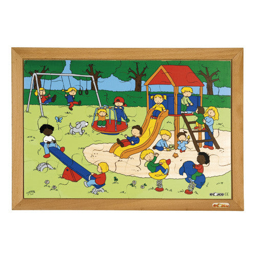The Playground Puzzle 24pc (40cm x 28cm) Wood Framed