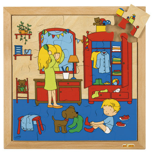 Dressing Puzzle 25pc (34cm x 34cm) Wood Framed
