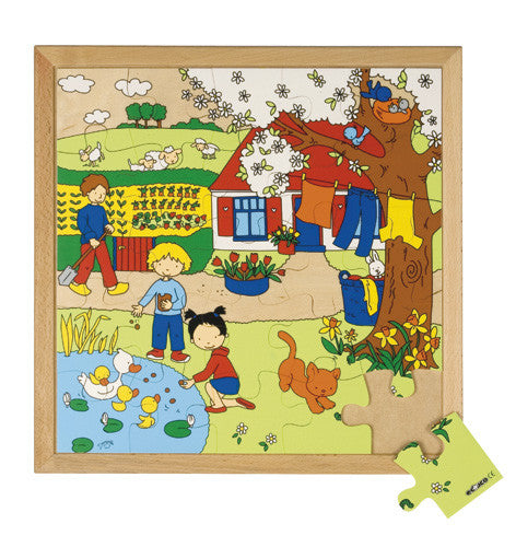 The Four Seasons-Spring Puzzle 25pc (40cm x 40cm) Wood Framed