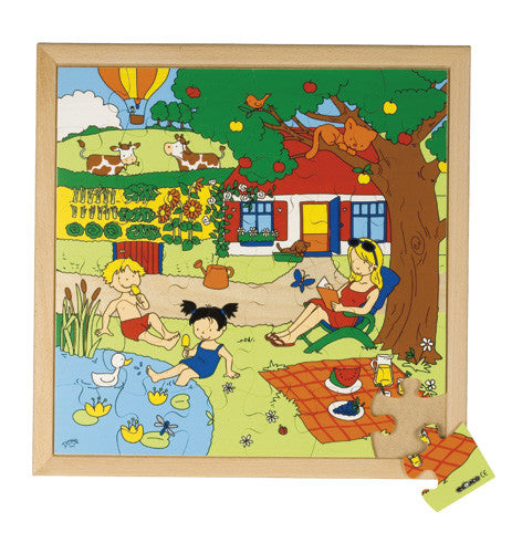 The Four Seasons - Summer Puzzle 36pc (40cm x 40cm) Wood Framed
