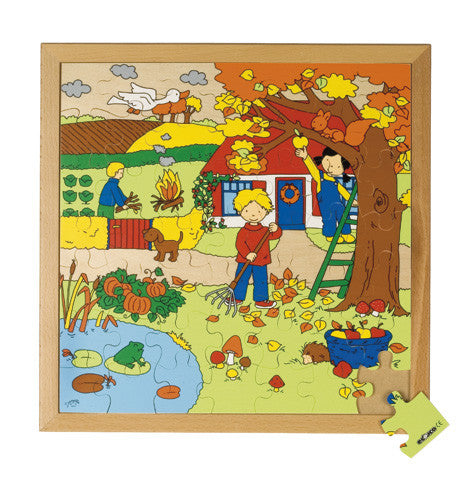 The Four Seasons-Autumn Puzzle 49pc (40cm x 40cm) Wood Framed