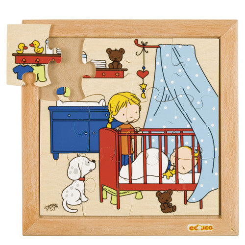Baby Sleeping Puzzle 12pc (24cm x 24cm) Wood Framed