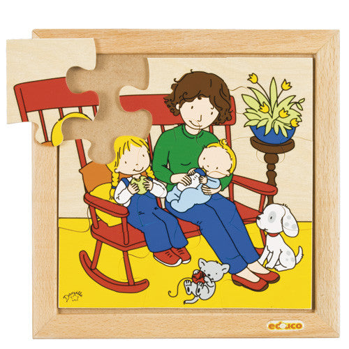 Baby Eating Puzzle 9pc (24cm x 24cm) Wood Framed
