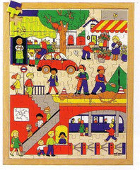 PUZZLE ABOVE AND UNDER - The City 120pc (40cm x 50cm) - iPlayiLearn.co.za