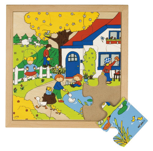 Seasons Spring Puzzle 9pc (34cm x 34cm) Wood Framed