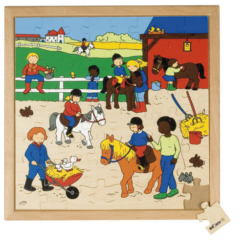 Horse Riding Puzzle 64pc (40cm x 40cm) Wood Framed
