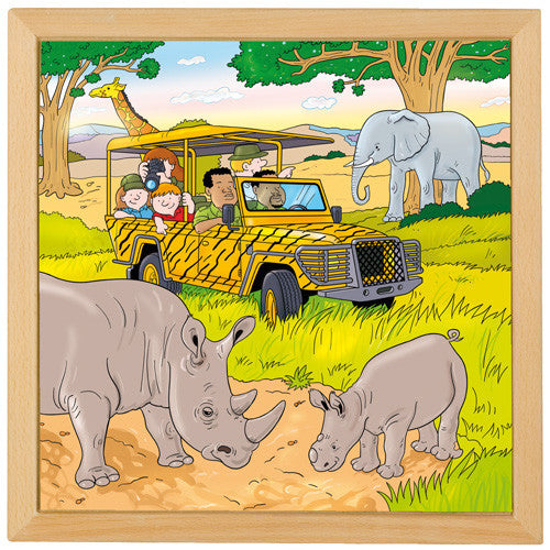 Game Drive Puzzle 49pcs (40cm x 40cm) Wood Framed