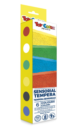 Sensorial Tempera Paint - 6 colours 25ml each