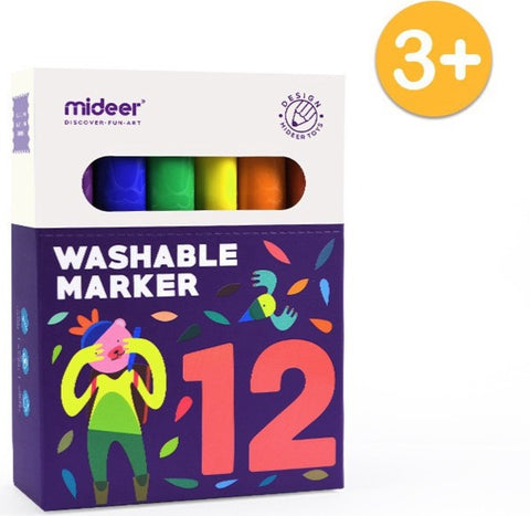 12 Water Based Washable Markers