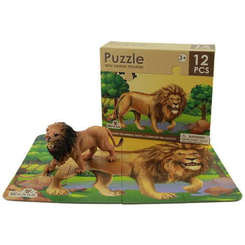 National Geographic 12-Piece Lion Puzzle & Figurine