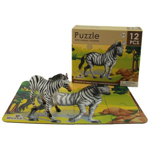 National Geographic 12-Piece Zebra Puzzle & Figurine