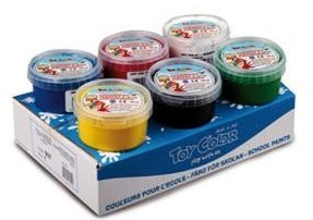 Superwashable Finger Paint Ready Mix,  6 Colour Pack, 180ml Tub