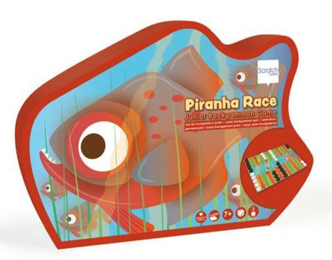 Piranha Race: Junior Backgammon Game