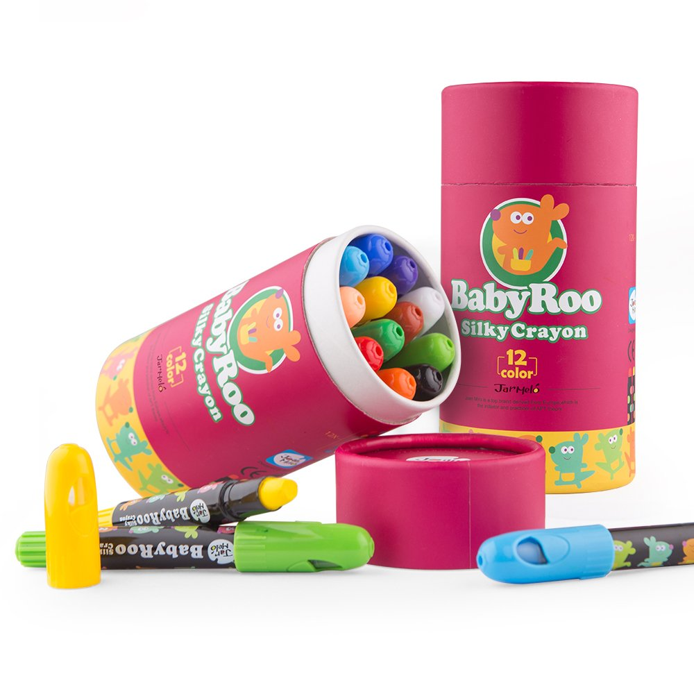 Baby Roo Silky Washable Crayons 12 Colours