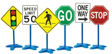 Traffic Signs 6pc - For Indoor use - iPlayiLearn.co.za