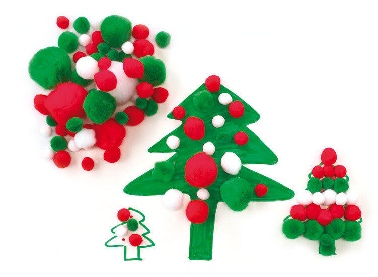 PomPoms CHRISTMAS 300pc - iPlayiLearn.co.za