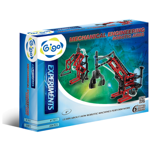 Mechanical Engineering Robotic Arms 204pc