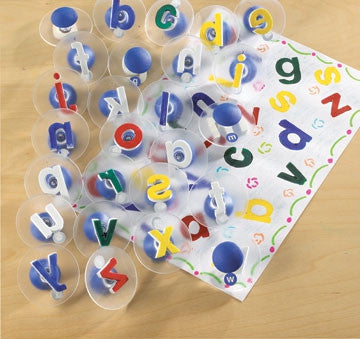Paint Stamp Alphabet LOWER CASE 26pc - iPlayiLearn.co.za