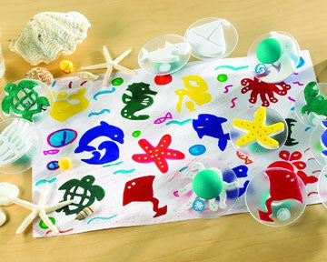Paint Stamp SEA LIFE 14pc - iPlayiLearn.co.za