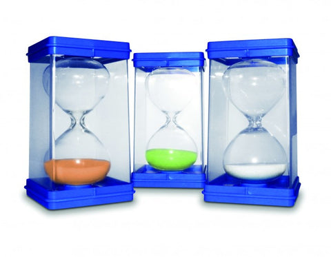 Giant Sand Timers (set of 3) 1min,3min,5min - iPlayiLearn.co.za
