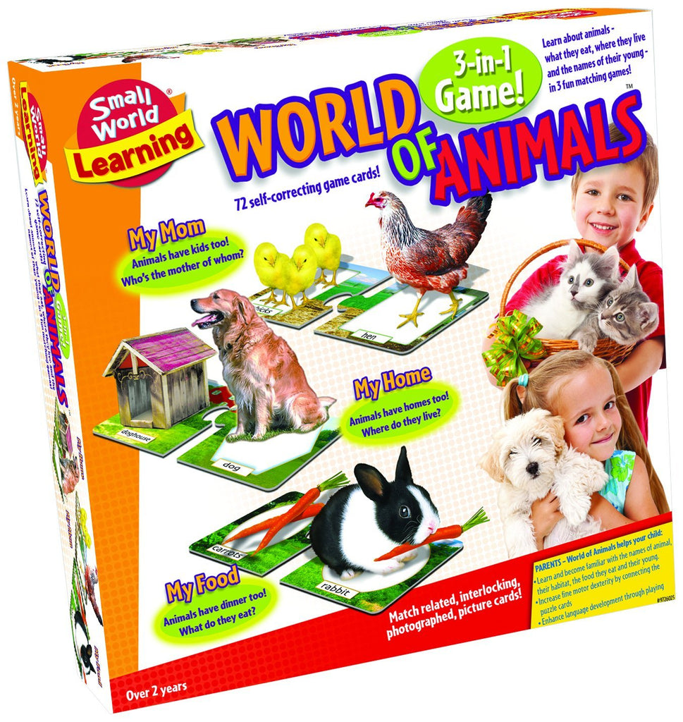 World of Animals: 3-In-1 Puzzle Game