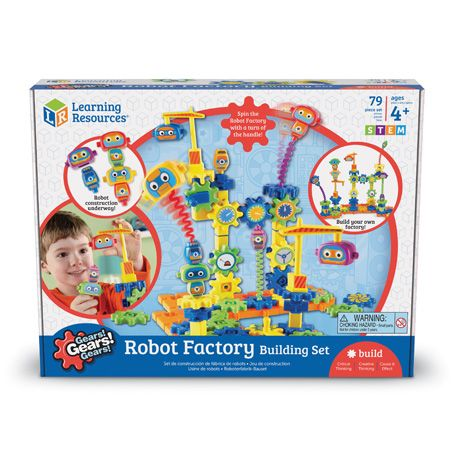 Gears Gears Gears!® Robot Factory Building Set 80pc