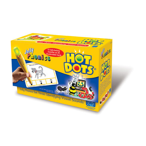 Hot Dots® Jolly Phonics Identifying Vowel Sounds - iPlayiLearn.co.za  - 1