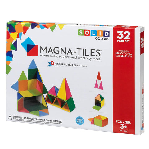 Magna-Tiles® Solid Colors 32-Piece Set