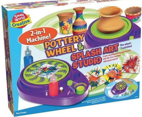 2 In 1 Pottery Wheel & Splash Art Studio