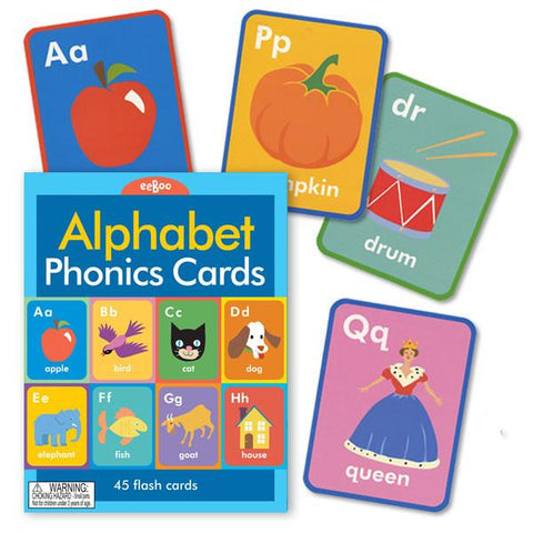 Alphabet Phonics Flash Cards: Upper & Lower Case