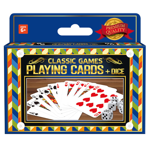 Classic Games Collection: 2 Decks Playing Cards & 5 Dice