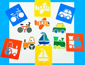 Transport Stencils 6pc