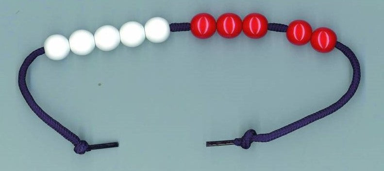String Bead Abacus DEMO 10 beads 1.8cm