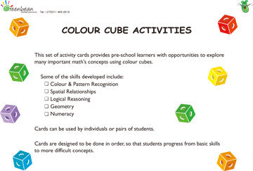 Activity Cards Colour Cubes Set 2 - iPlayiLearn.co.za  - 1