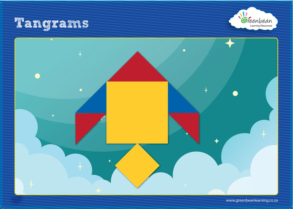 Activity Cards Tangram Set 1 - iPlayiLearn.co.za  - 1
