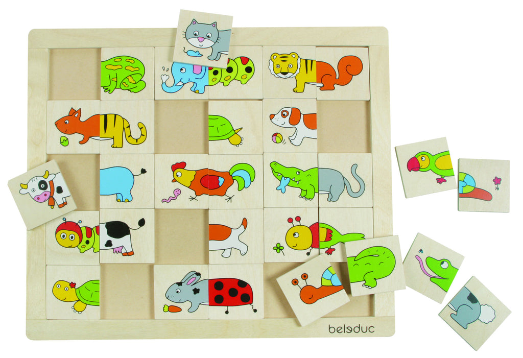 Match & Mix Puzzle: Animals 30pc (336 x 289 x 9mm) - iPlayiLearn.co.za  - 1