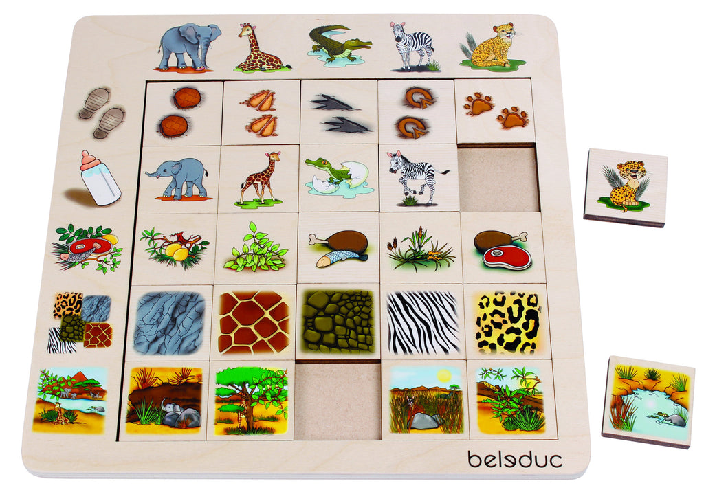 "Sorting Set ""Savannah"" 25pc (260 x 260 x 8) - iPlayiLearn.co.za"