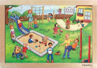 Frame Puzzle: Kindergarten 24pc (405 x 283 x 8mm) - iPlayiLearn.co.za