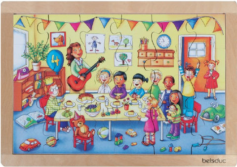 Frame Puzzle: Birthday Party24pc (405 x 283 x 8mm) - iPlayiLearn.co.za
