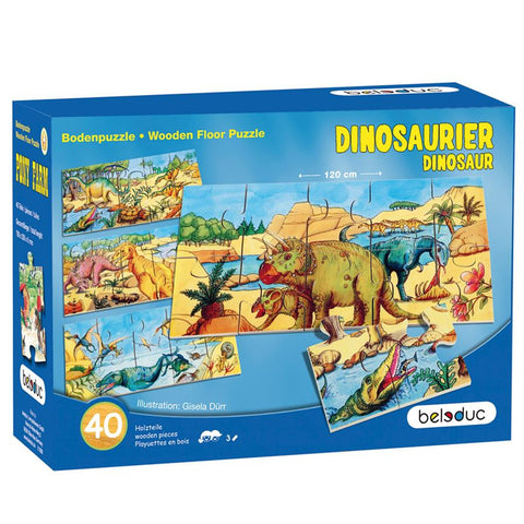 Floor Puzzle: Dino - 4 x 10pc (298 x 145 x 6 mm each)