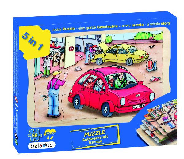 Layer Puzzle: Garage 58pc (295 x 207 x 18 mm)