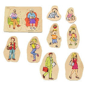 5 in 1 Layer Puzzle: Grandma & Grandpa 40pcs (295 x 207 x 18mm) - iPlayiLearn.co.za