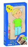 "5 in 1 Layer Puzzle: ""Your Body - Boy"" 28pc (145 x 295 x 20mm) - iPlayiLearn.co.za"