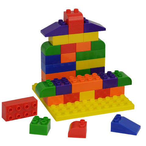 Building Blocks with Play Board 73pc Polybag