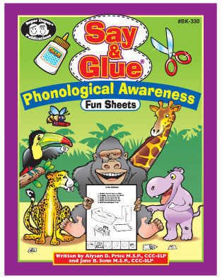 Say and Glue Phonological Awareness Fun Sheets 124 page