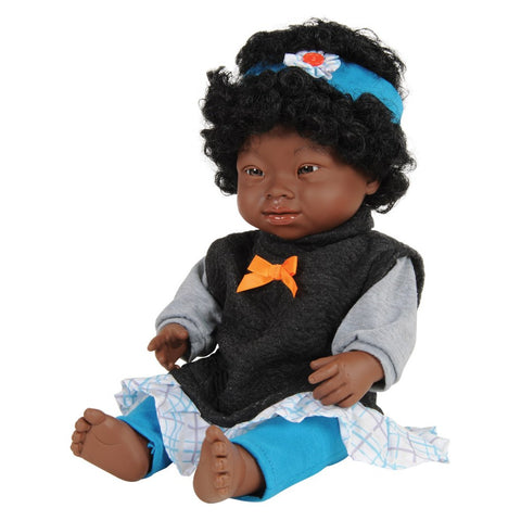 Miniland Dolls of the World: Baby Doll African Girl with Down Syndrome 38cm