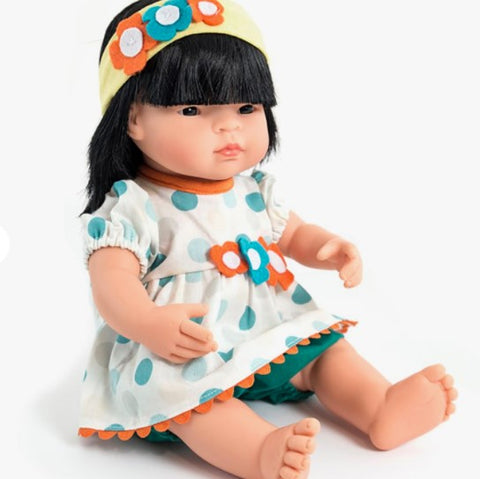 Miniland Dolls of the World: Baby Doll Asian Girl 38cm