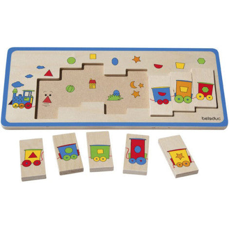 Matching Puzzle: Train 8pc (375 x 160 x 16mm) - iPlayiLearn.co.za  - 1